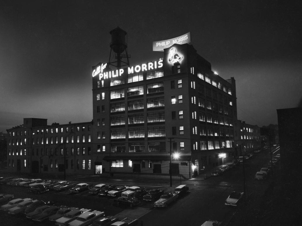 Philip Morris at Night 1961