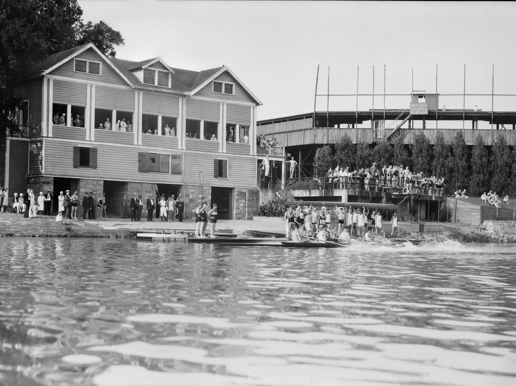 Virginia Boat Club and Parker Field 1920s