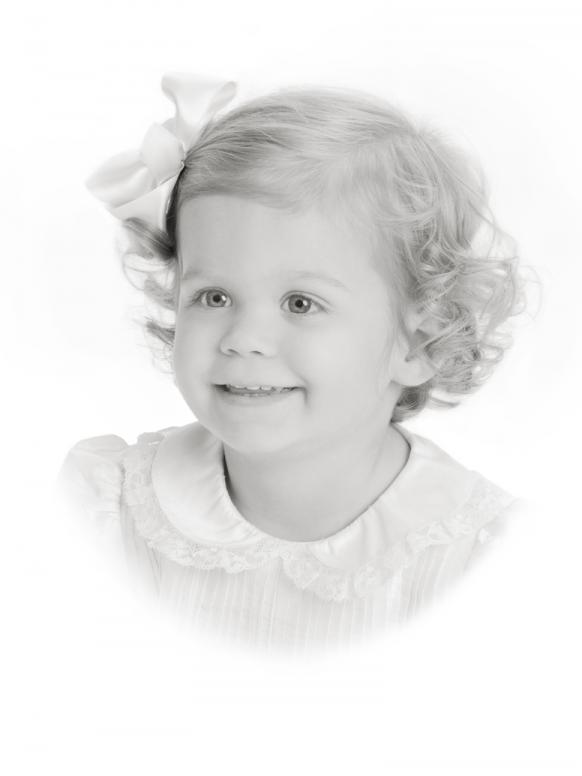 Children's portrait on white